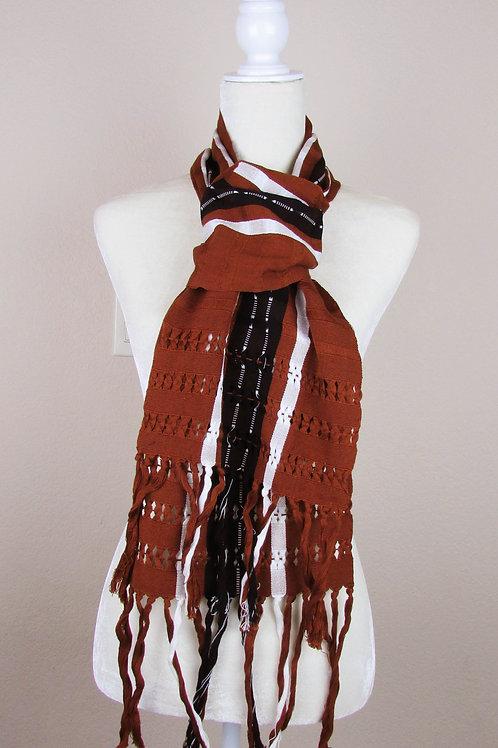 Scarf hand wove, mexican scarf, maya textile, mexican apparel, mexican garment, mexican embroidery, bufanda mexicana,