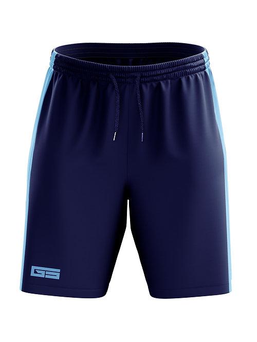 Golati Soccer Shorts (Navy/Light Blue)