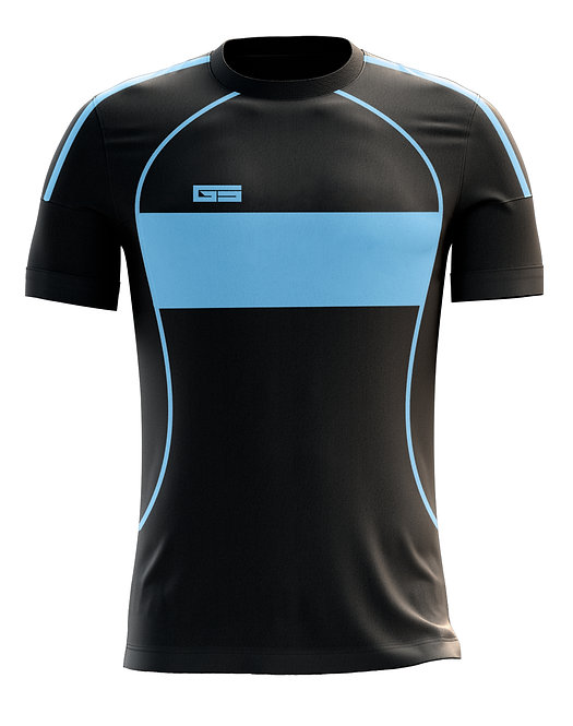 Golati Soccer Hoop Jersey 253 (Black/Light Blue)