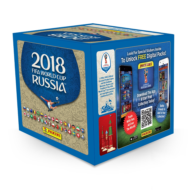 PANINI 2018 Fifa World Cup Russia Stickers (50 packets x 5 stickers)