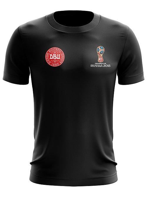 Denmark World Cup 2018 Black T-Shirt