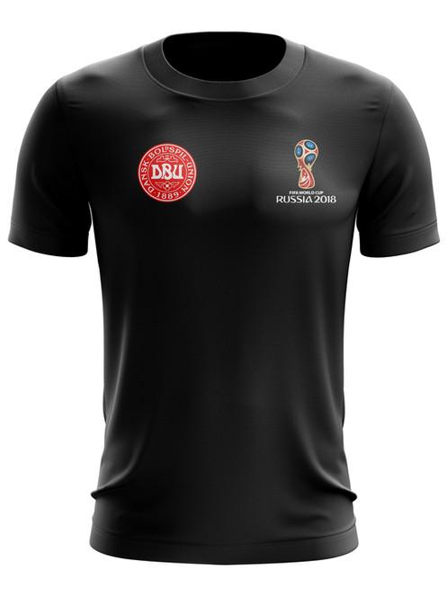 83296ce9d27 Denmark World Cup 2018 Black T-Shirt