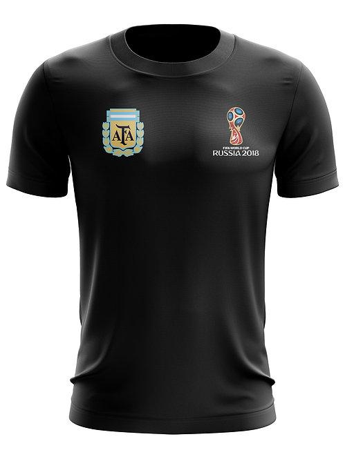 Argentina World Cup 2018 Black T-Shirt