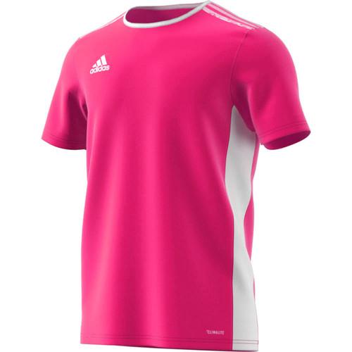 Entrada 18 Jersey Shock Pink/White | golatisports