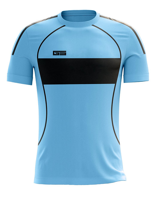 Golati Soccer Hoop Jersey 252 (Light Blue/Black)