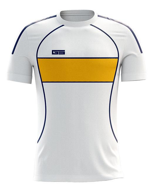 Golati Soccer Hoop Jersey 251 (White/Navy/Gold)