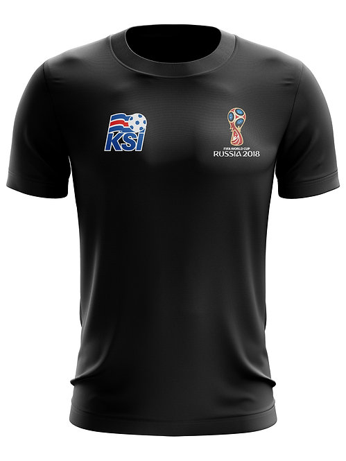 Iceland World Cup 2018 Black T-Shirt