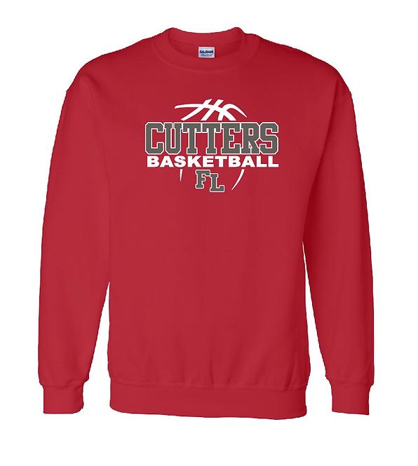 FLHS Cutters Basketball DryBlend Fleece Crew Sweatshirt