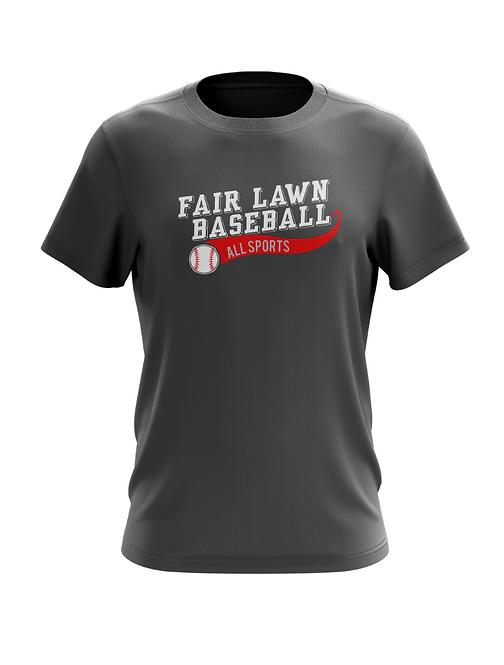 Fair Lawn Baseball Charcoal T-Shirt