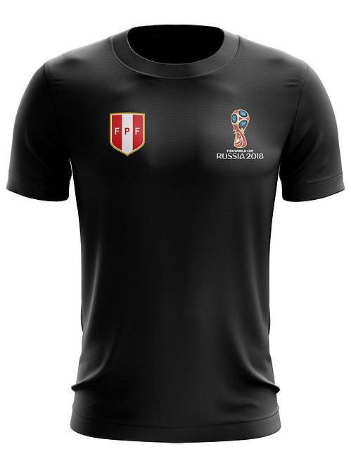 Peru World Cup 2018 Black T-Shirt