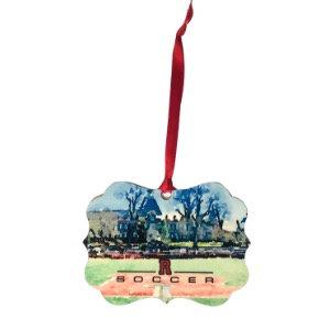 RHS Field Watercolor Ornament