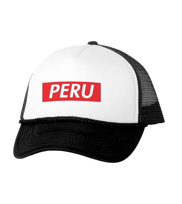 Peru Black/White Mesh Cap