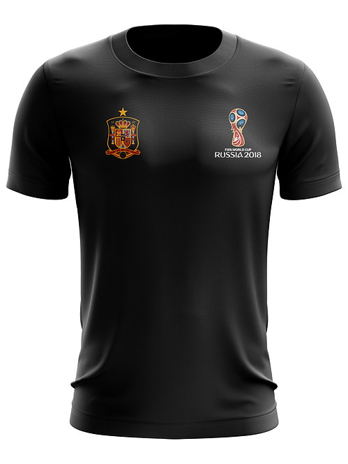 Spain World Cup 2018 Black T-Shirt