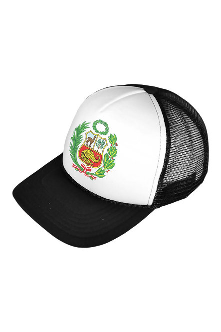 Peru Escudo Black/White Mesh Cap
