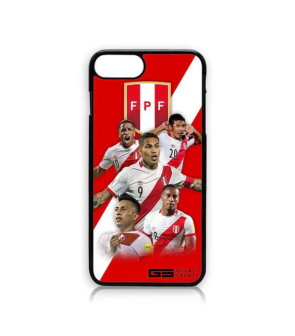 Peru Team iPhone Cover (Plastic) BLACK