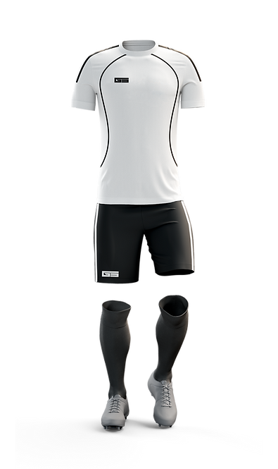 Golati Soccer Kit (White/Black)