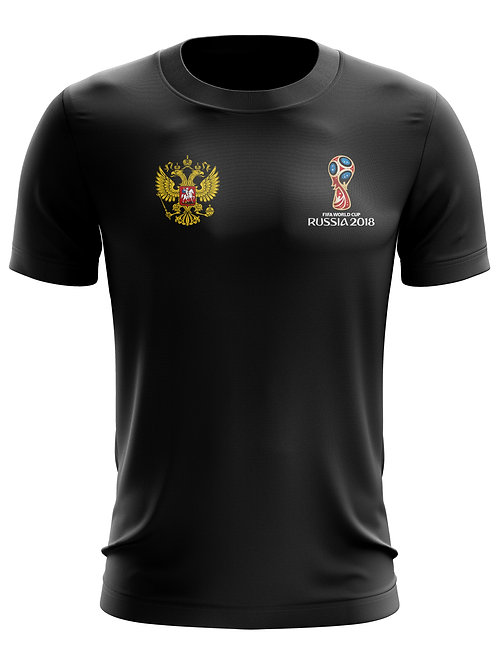 Russia World Cup 2018 Black T-Shirt