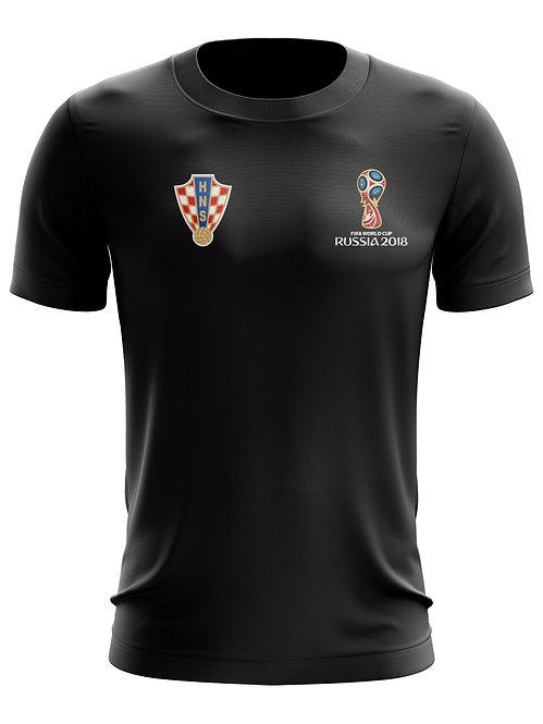 Croatia World Cup 2018 Black T-Shirt