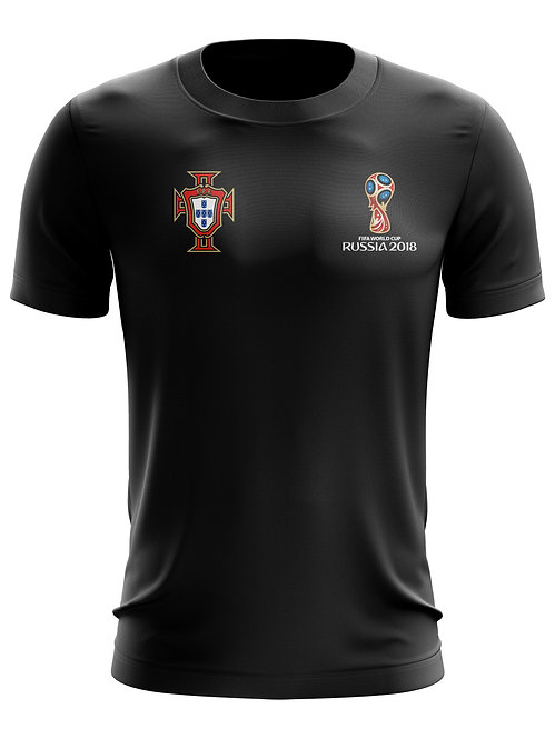 Portugal World Cup 2018 Black T-Shirt