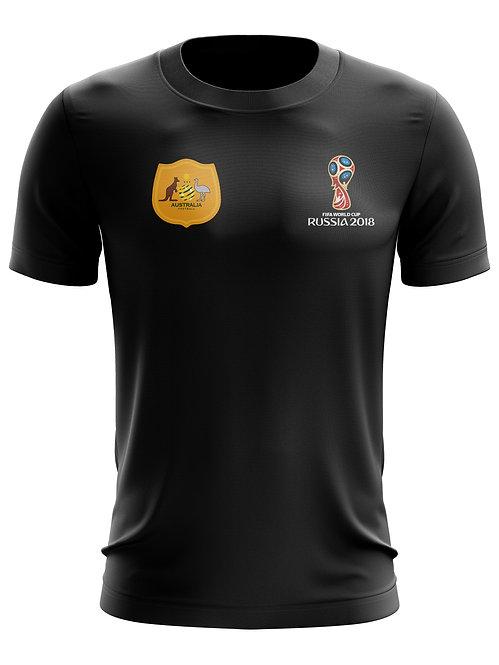 Australia World Cup 2018 Black T-Shirt