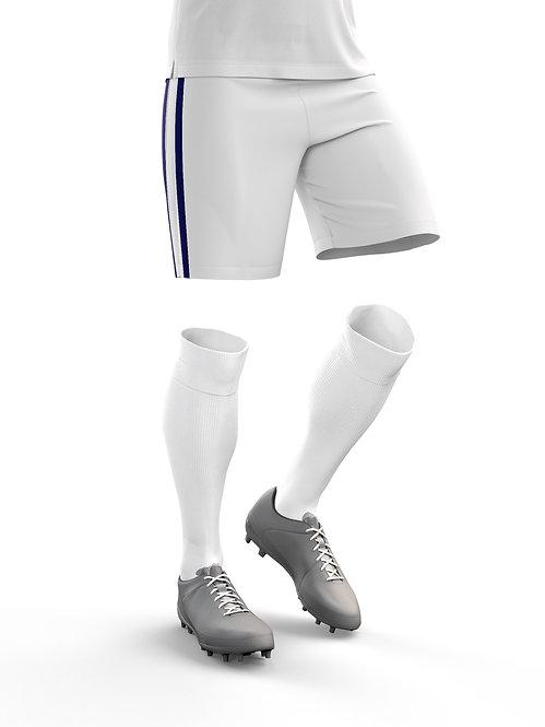 White Game Shorts & Socks Bundle