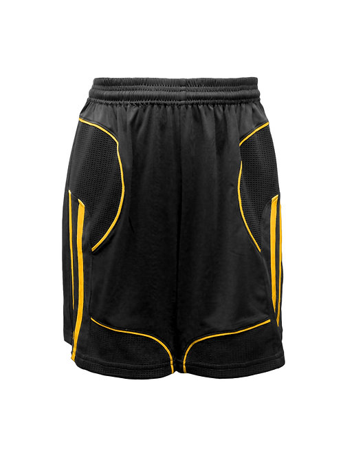 Golati Elite Soccer Shorts (Black/Gold)