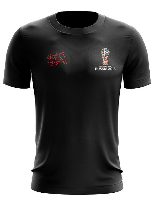 Switzerland World Cup 2018 Black T-Shirt