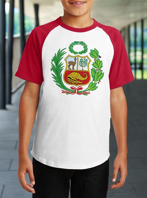 Duo Tone Peru Escudo Youth T-Shirt