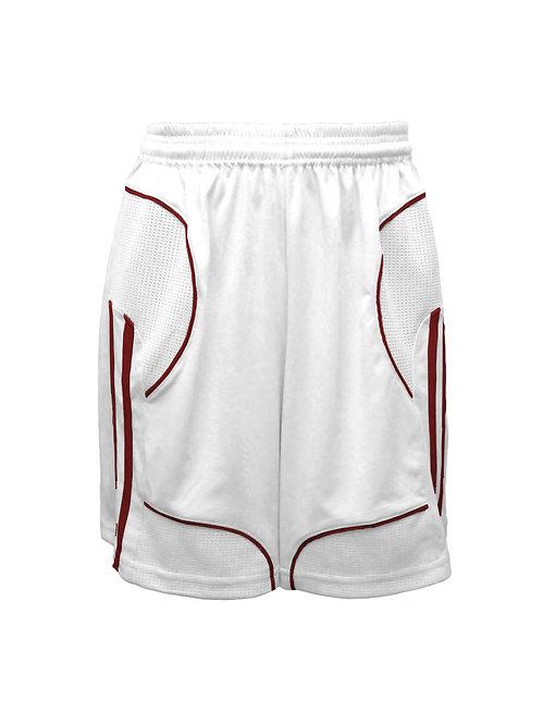 Golati Elite Soccer Shorts (White/Maroon)
