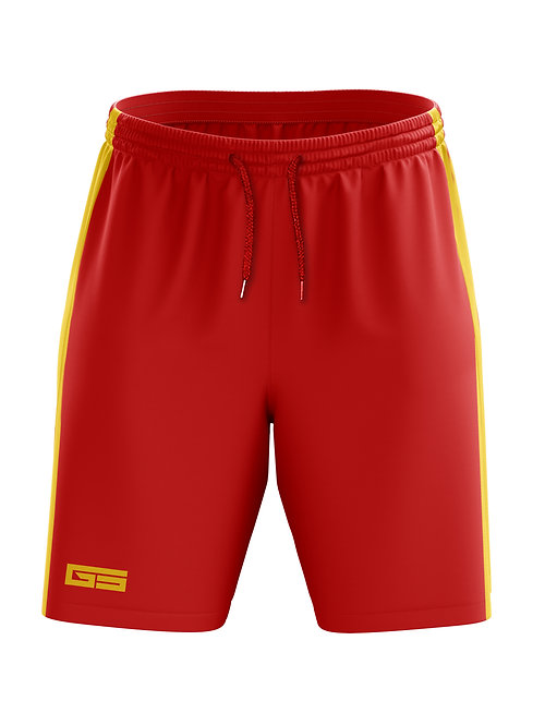 Golati Soccer Shorts (Red/Gold)