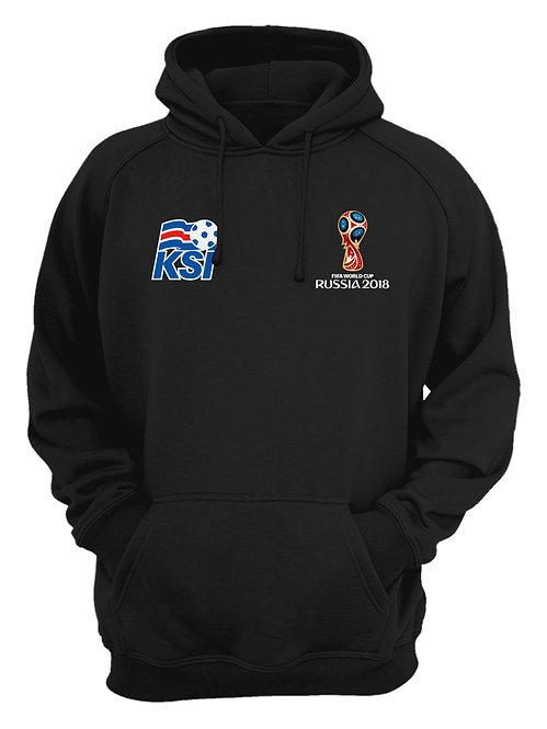 Iceland World Cup 2018 Black Hoodie