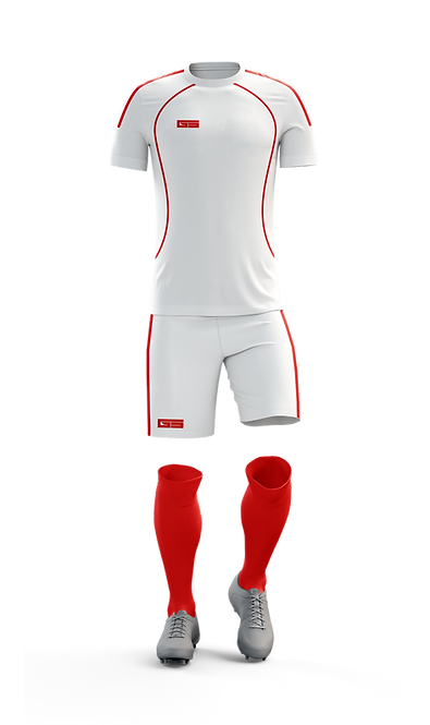 Golati Soccer Kit (White/Red)