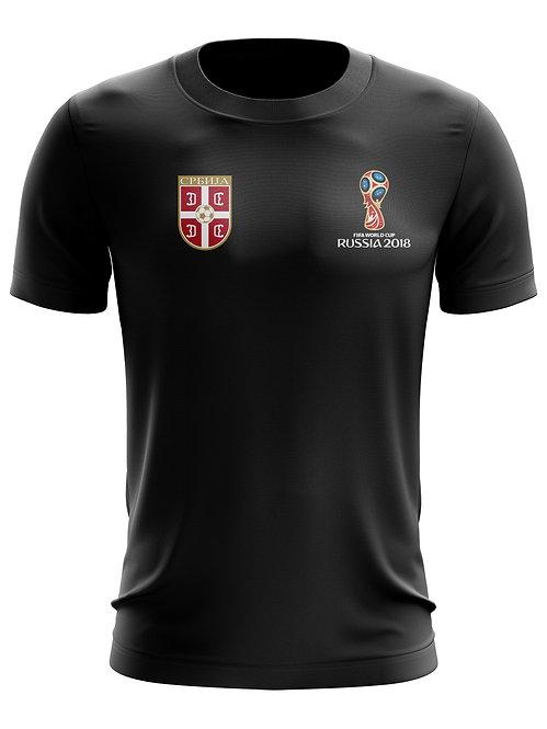Serbia World Cup 2018 Black T-Shirt