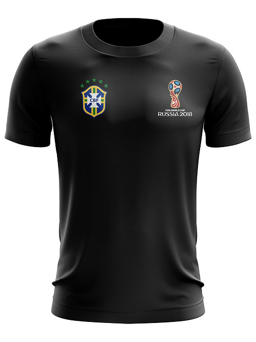 Brasil World Cup 2018 Black T-Shirt