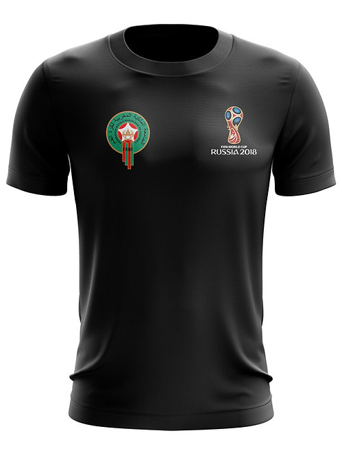Morocco World Cup 2018 Black T-Shirt