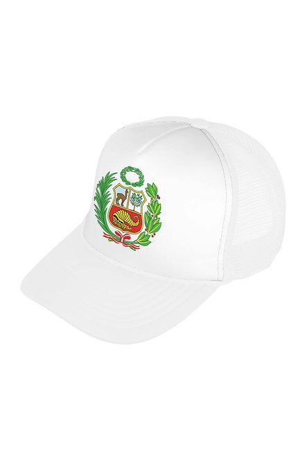 Peru Escudo White/White Mesh Cap