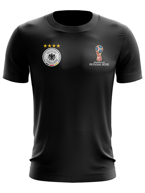 Germany World Cup 2018 Black T-Shirt