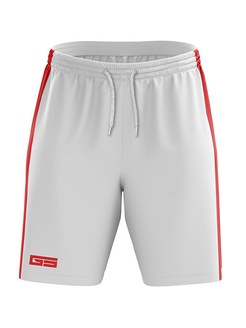 Golati Soccer Shorts (White/Red)