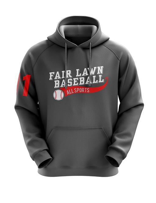 Fair Lawn Baseball Charcoal Hoodie