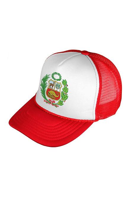 Peru Escudo Red/White Mesh Cap