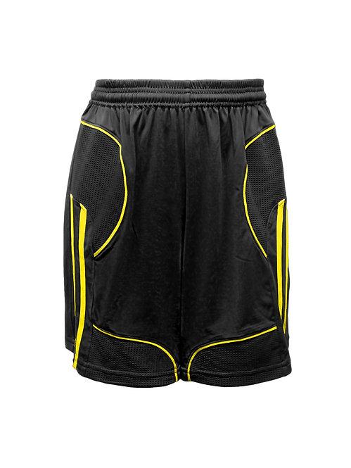 Golati Elite Soccer Shorts (Black/Yellow)