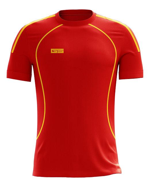Golati Soccer Jersey 218 (Red/Gold)