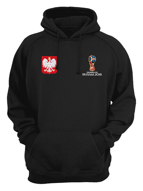 Poland World Cup 2018 Black Hoodie