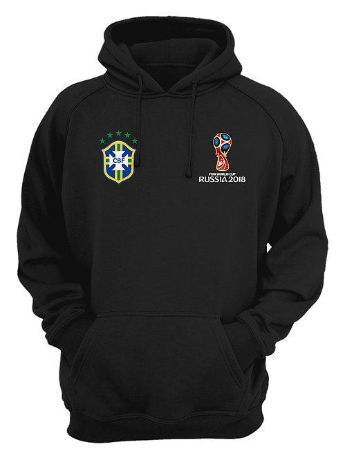 Brasil World Cup 2018 Black Hoodie