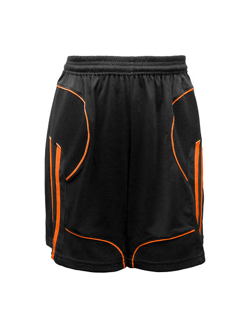 Golati Elite Soccer Shorts (Black/Orange)