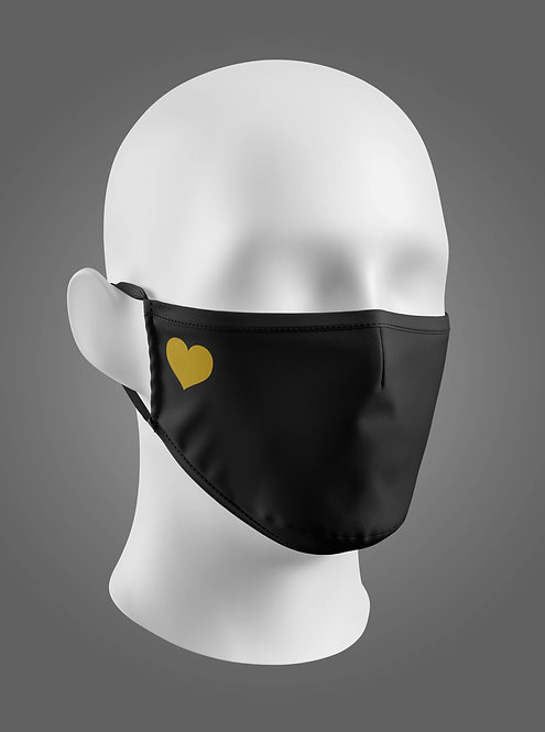 Heart CONE FACE MASK