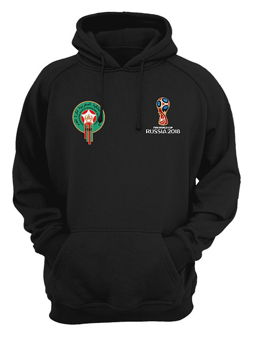 Morocco World Cup 2018 Black Hoodie