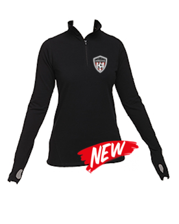 45-MSC: Black Practice 1/4 Zip Jacket