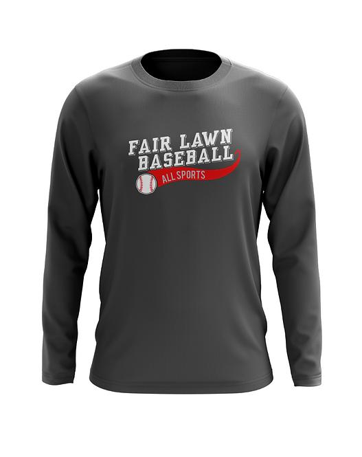 Fair Lawn Baseball Charcoal Long Sleeve T-Shirt