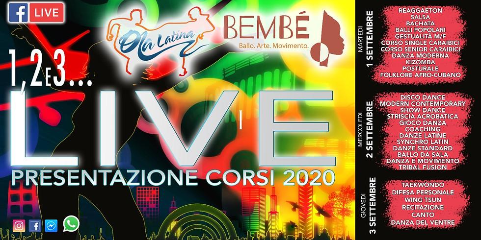5° Presentazione Live FB - ARTI DELLO SPETTACOLO
